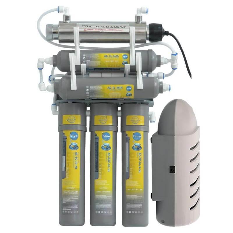 Filtru apa cu osmoza inversa - RO6 cu lampa UV si pompa presiune