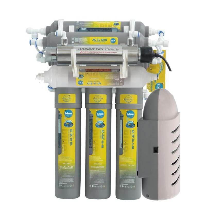 Sistem de filtrare a apei RO 7 New Line cu lampă UV și pompă de presiune