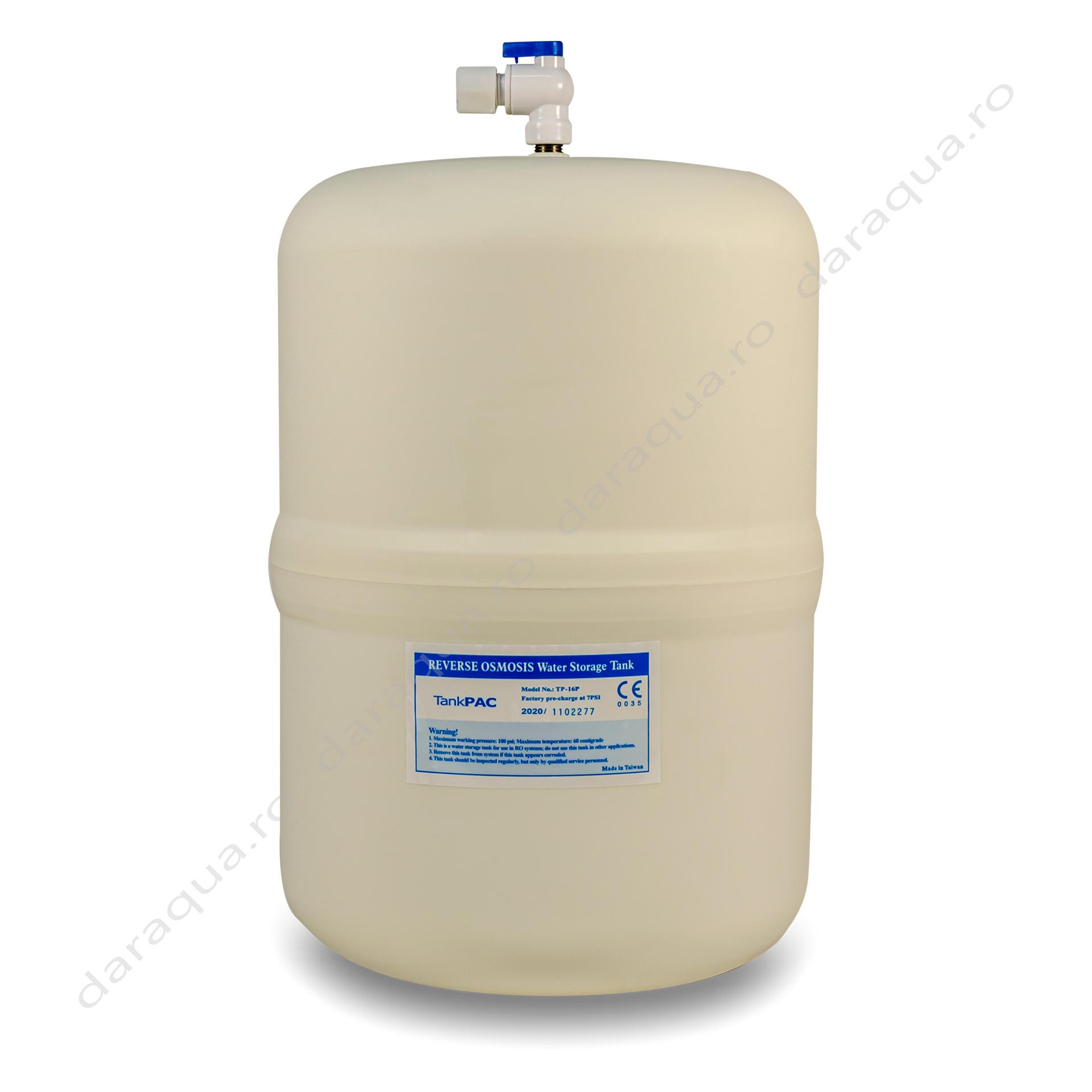 Tanc de stocare pentru sistem de filtrare cu Osmoza Inversa - 12 litri