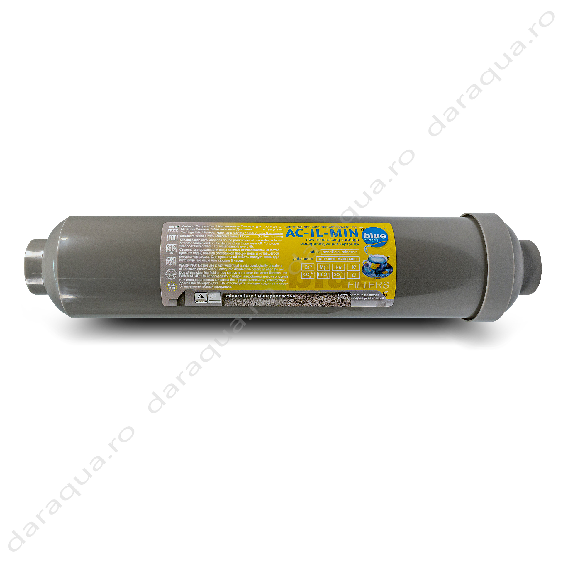 Cartus Mineralizator Inline BPA Free