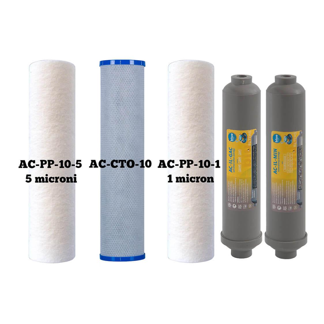 Consumabile pentru filtre apa cu osmoza inversa RO6 Classic