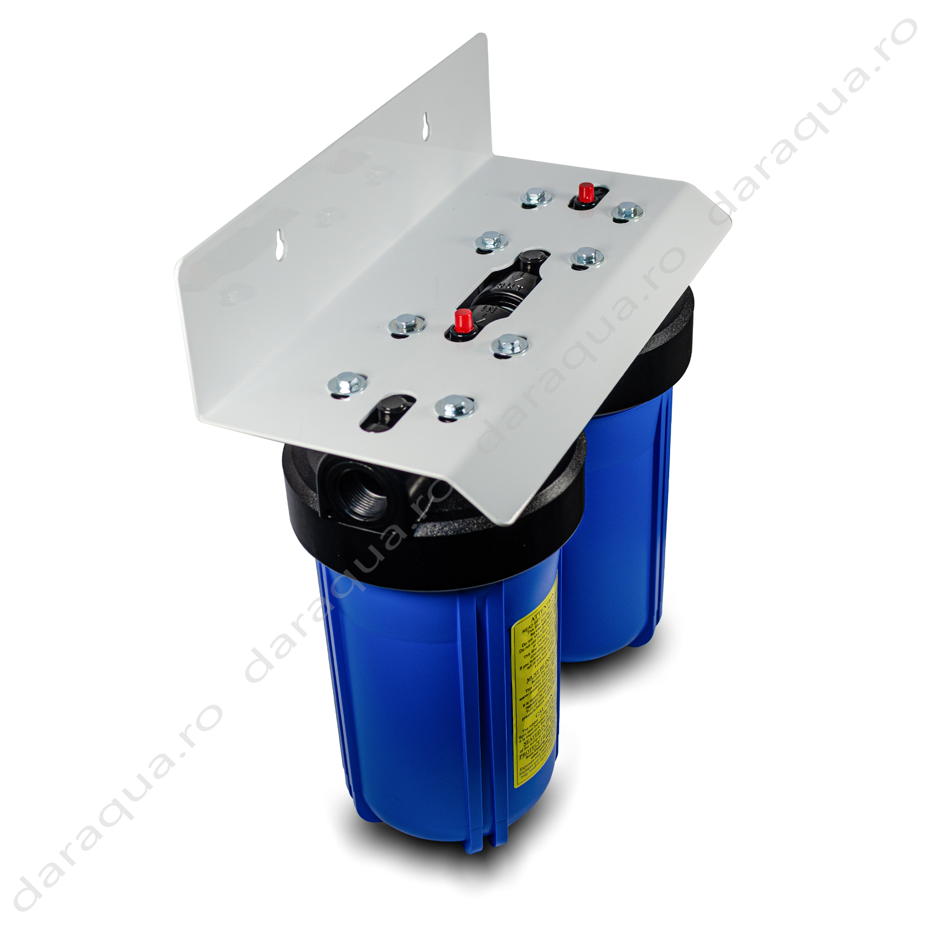 "Duplex Big Blue 10"" cu cartus Carbon Activ si Cartus Sediment 5 microni"