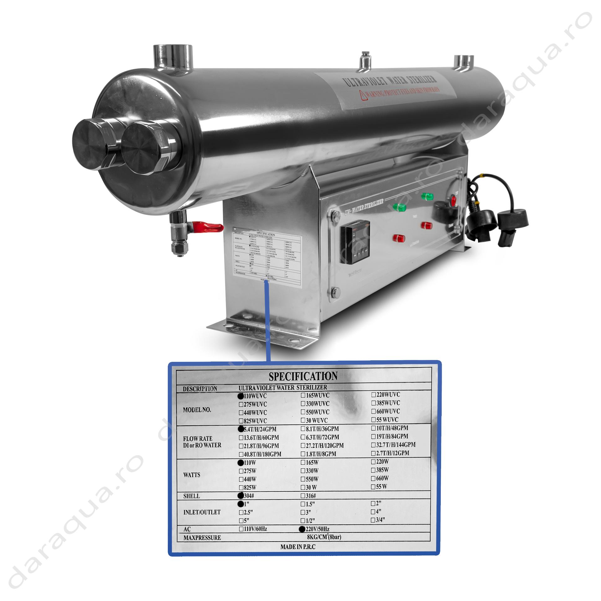 Sterilizator UV 110W
