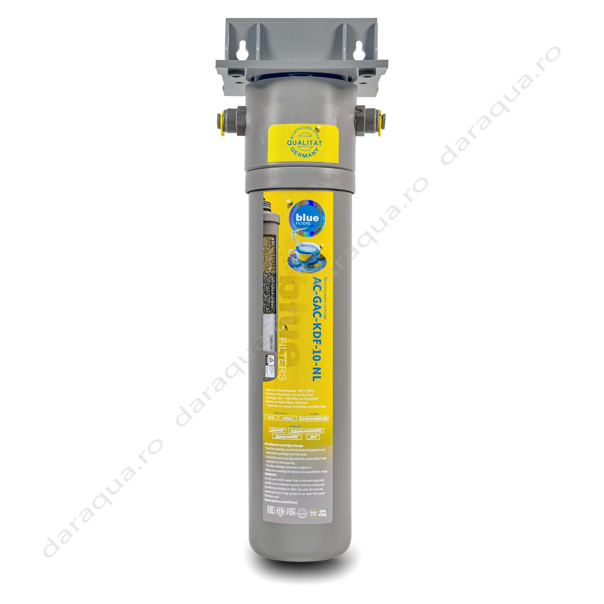 Filtru 3 in 1 cu efect antibacterian si carbune activ - BPA Free
